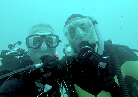 pat and flip diving on bentprop expedition