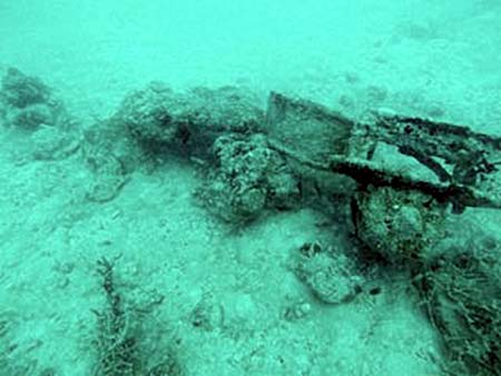 wreckage and debris found by bentprop palau