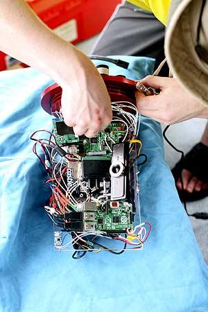 fixing underwater robot for bentprop in palau