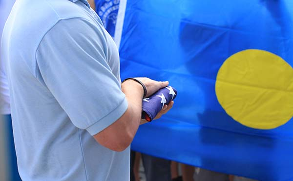 respectful flag ceremony palau bentprop