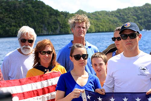 helldiver flag ceremony palau bent prop