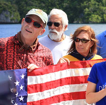 helldiver flag ceremony palau bent prop