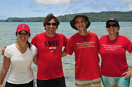 SDSU students with Bentprop in palau