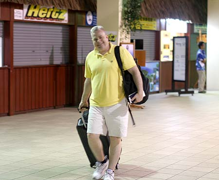 arriving in palau airport