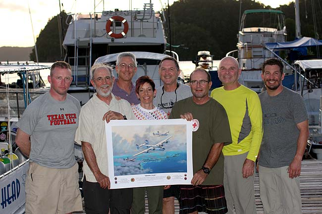 bentprop presents Sam's Dive Tours of Palau with Mark Pestana's print of the '453 B-24 that was the subject of Wil Hylton's recent book Vanished.