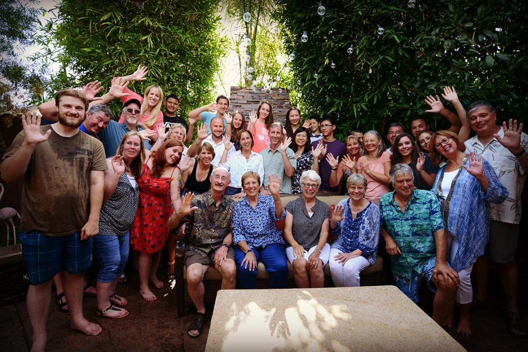 The Kelly family and MIA Research team with extended family at family reunion.