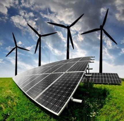 13007691-solar-energy-panels-and-wind-turbine