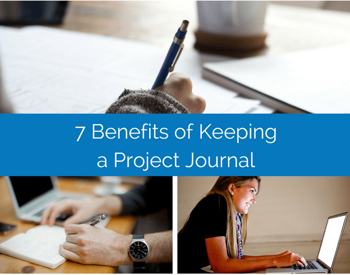 project manager keeping a project journal