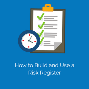 picture of a risk register and watch