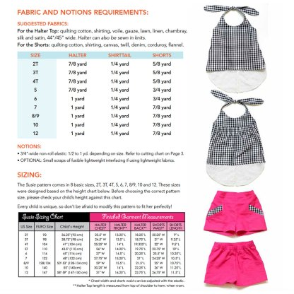 Susie Halter and Shorts Pattern by ModKid for Project Run & Play Shop