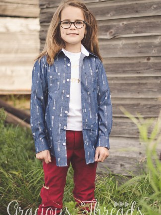 Chestnut Tee Pattern by Gracious Threads for Project Run & Play
