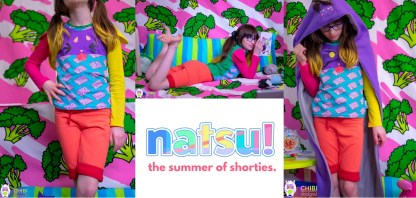 Natsu Shorties by Sew Chibi Designs for Project Run & Play