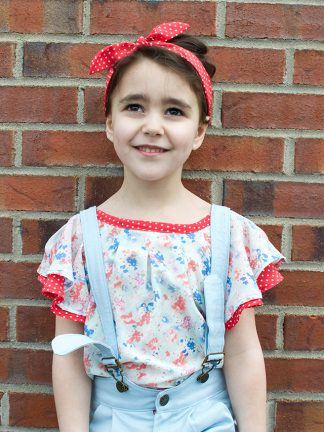Tip Top Tunic and Dress by Petit A Petit + Family for Project Run & Play