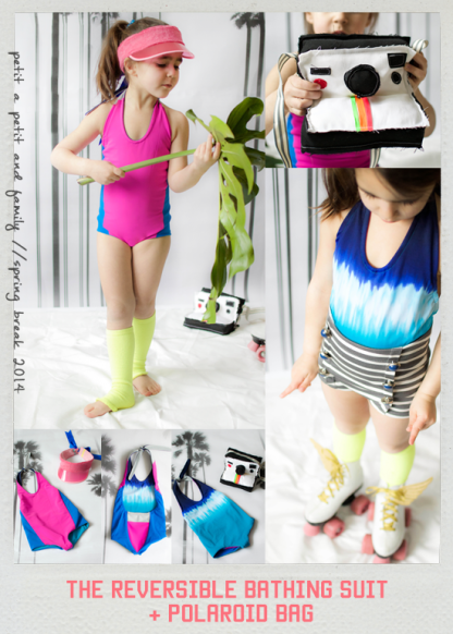 Azur Reversible Swimsuit by Petit A Petit for Project Run & Play