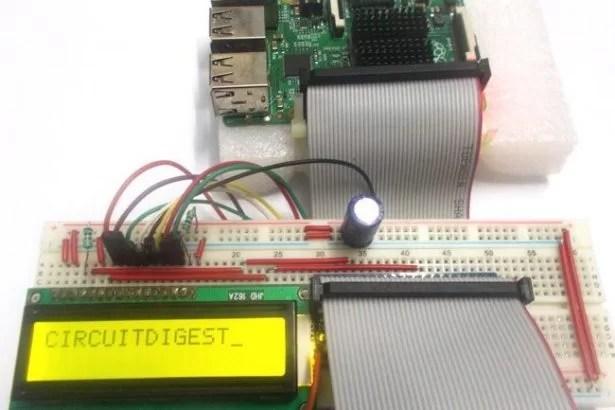 16x2 LCD Interfacing With Raspberry Pi Using Python