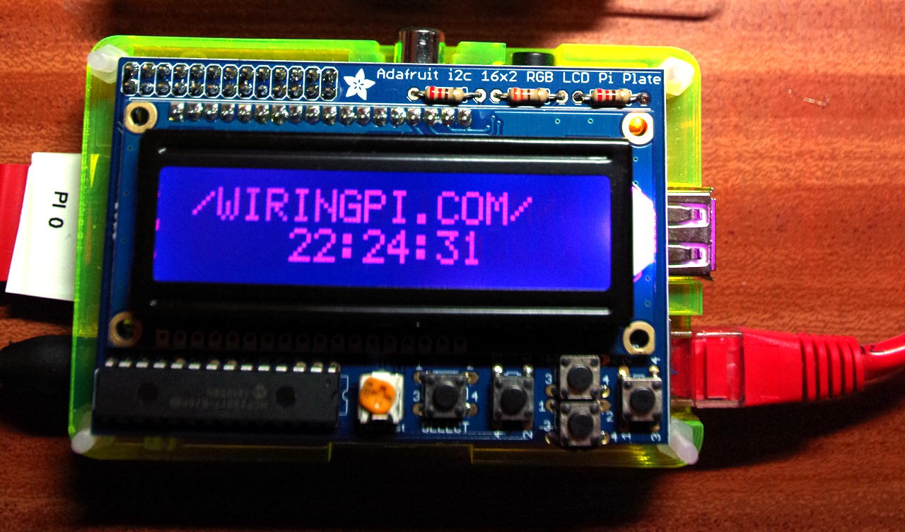Adafruit RGB LCD Plate With WiringPi