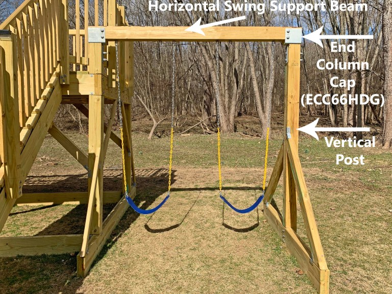 Simpson Strong-Tie ECC66HDG bolted to a playground