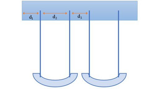 Diagram showing proper spacing of swings is important for safety