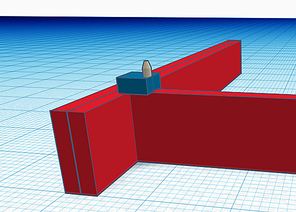 Diagram showing a scrap piece of wood nailed onto the end of a joist