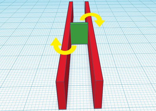 Blocking in green helps prevent joist rotation