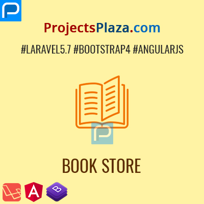 laravel angularjs book store application