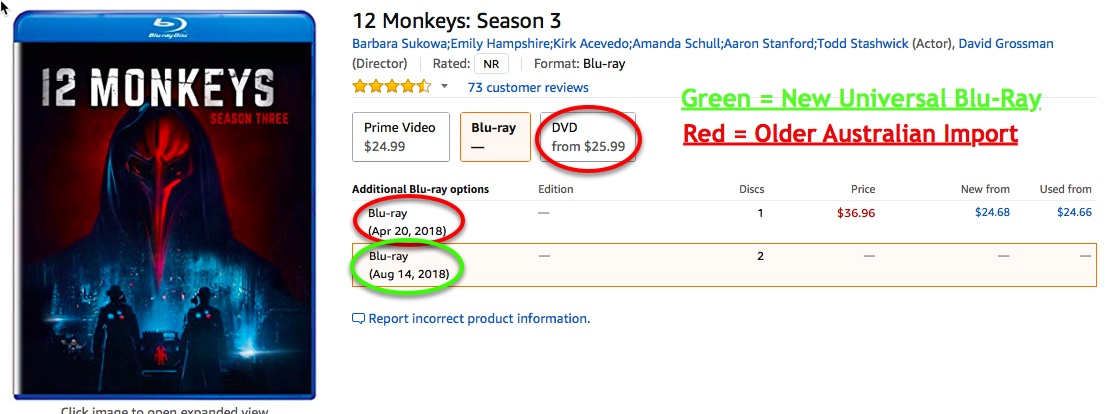 Latest info - Details and Availability of the new 12 Monkeys