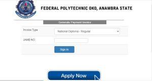 Federal Polytechnic Oko Post UTME Form 2020/2021