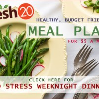 My Take On The Fresh 20 Weekly Meal Plan