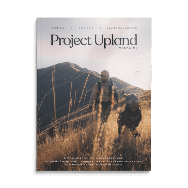 Front cover of the 2018 Project Upland Magazine
