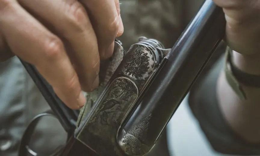 Disassembling a vintage shotgun