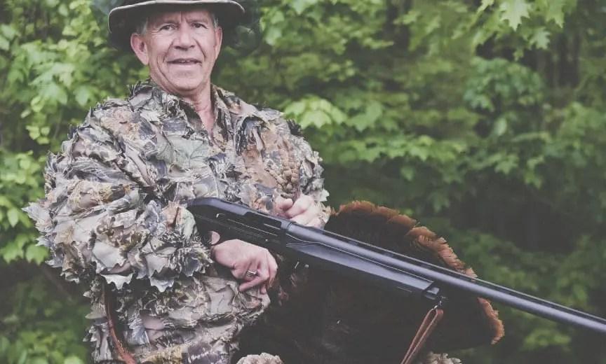 A turkey hunter using a Franchi Affinity.
