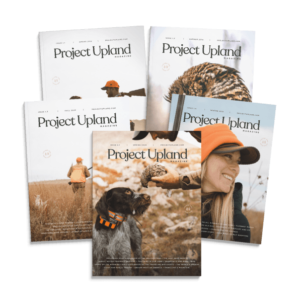 The Starter Pack of Project Upland Magazine with all of 2019 issues.
