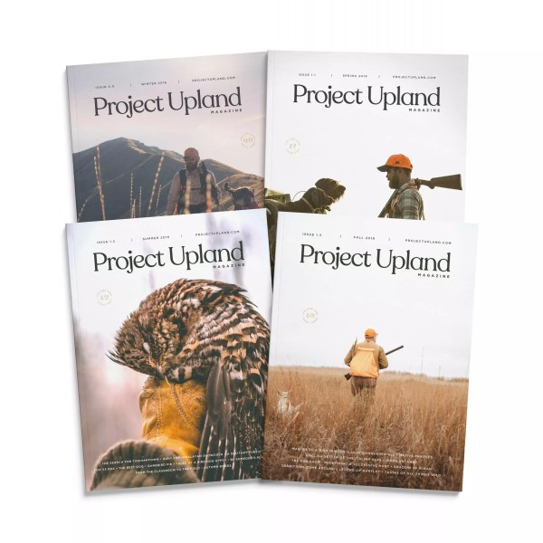 The first four magazine covers of Project Upland