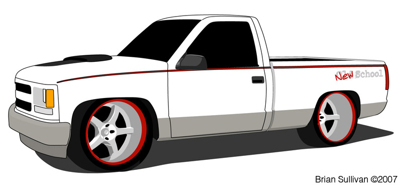 couple quick illustrations of an old beater chevrolet 1500 work