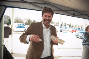 oysters and cash during a consumer experiment