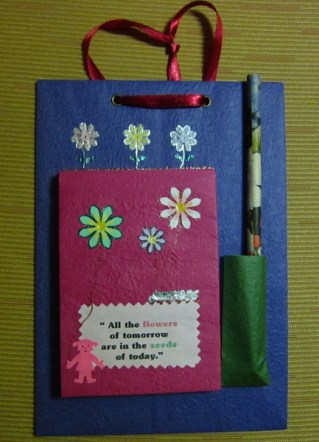 Colorful note pad – 'Flowers of tomorrow', 8.5 x 6 in