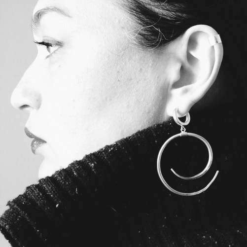 Coiled Hoop Earrings