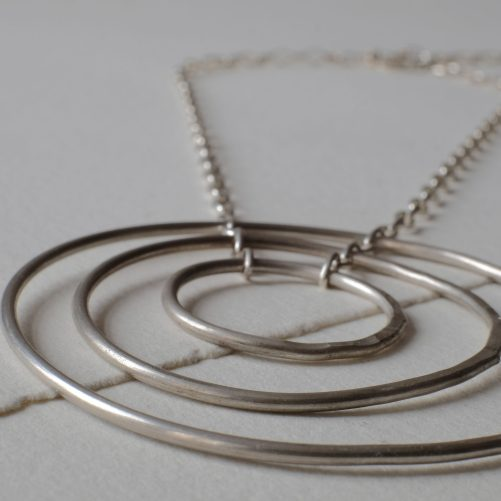 Solid silver infinity necklace