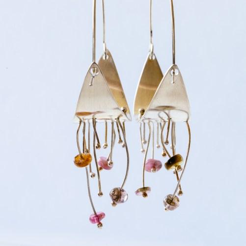 Wind chime earrings