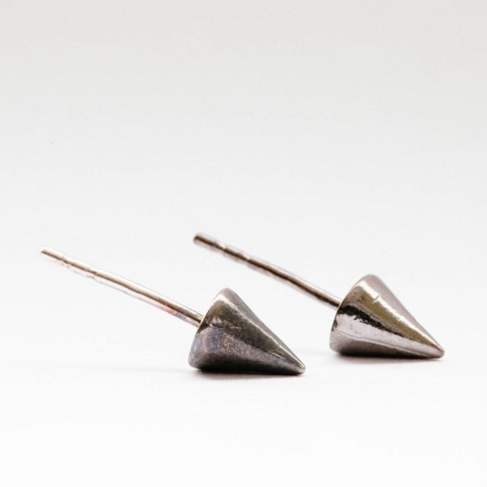 Edgy cone spike earrings