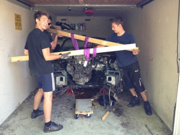 Motorausbau ohne Motorkran