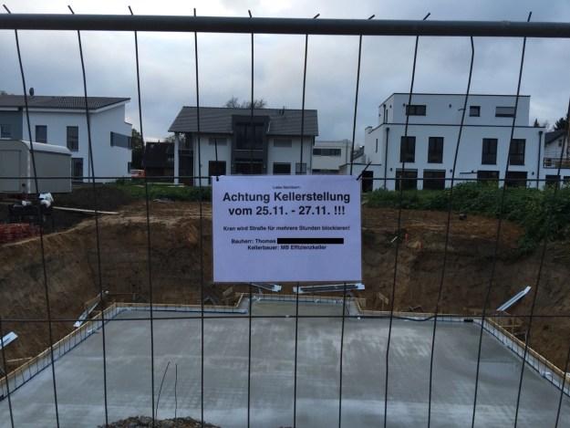 Baustellenschild - Es geht los!
