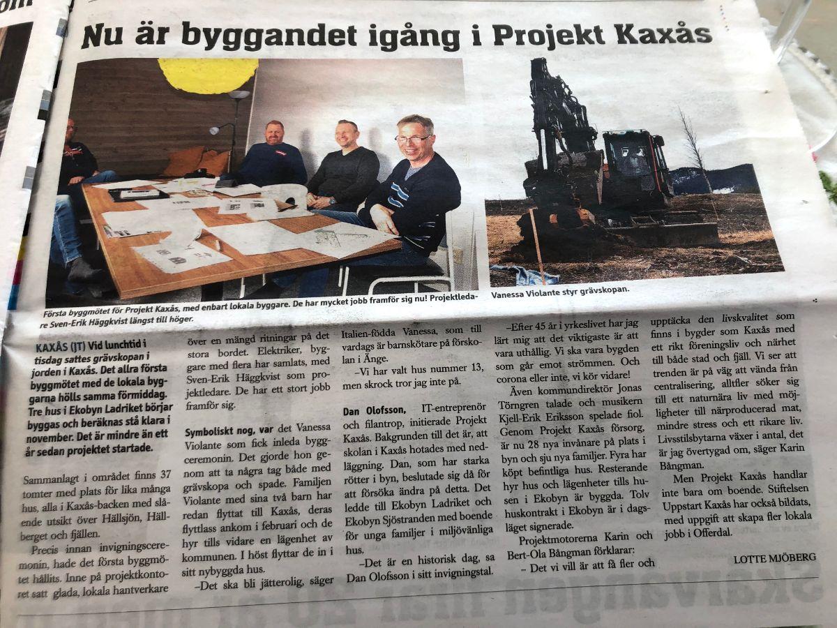 JT | Nu är byggandet i gång i Ekobyn Ladriket och Projekt Kaxås