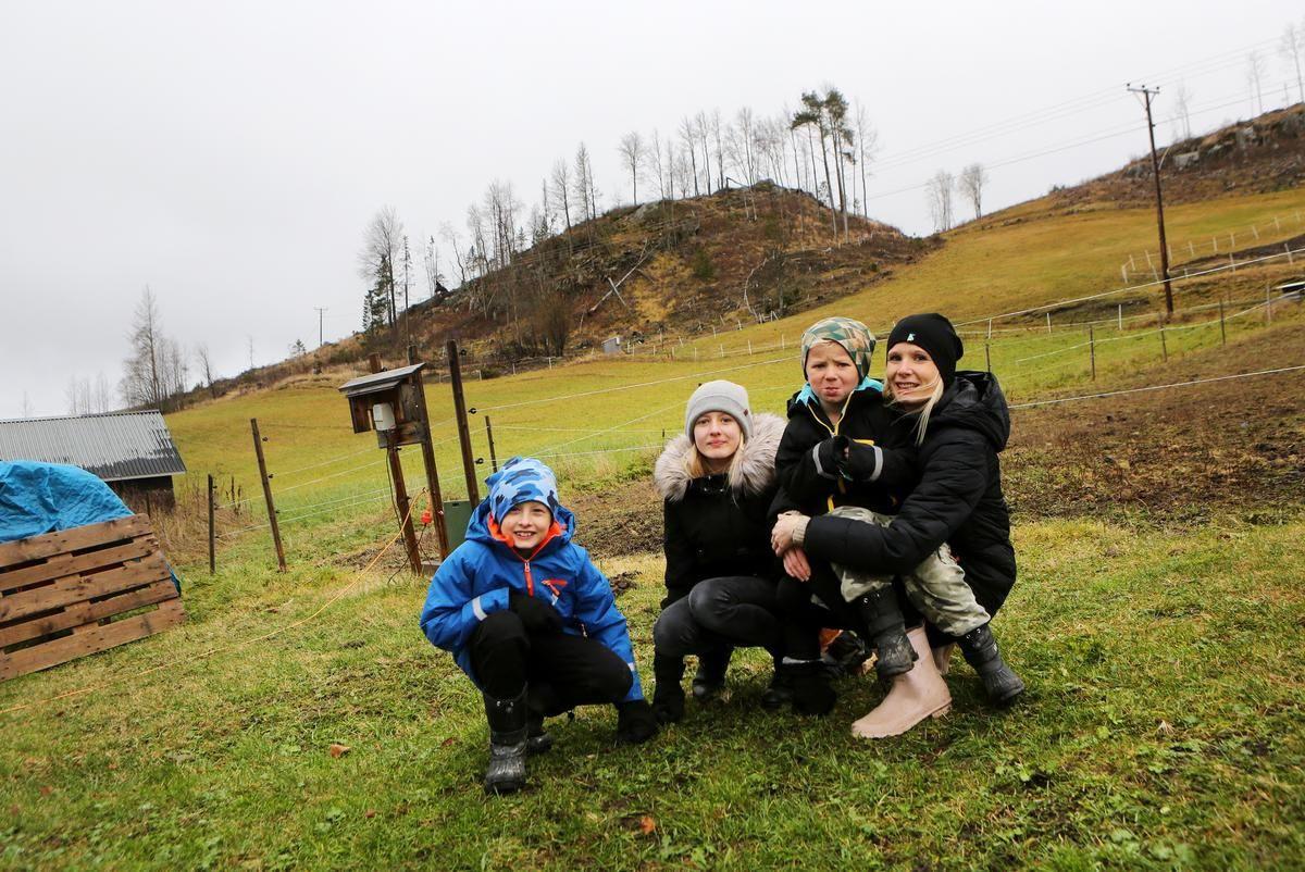 Nyinflyttade familjen Norén. Foto © LT | Håkan Luthman.