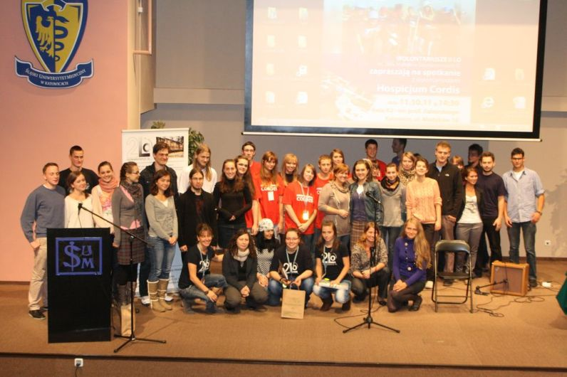 Wszyscy uczestnicy eventu na Uniwersytecie Medycznym w Katowicach