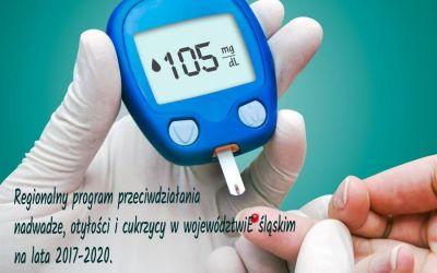 Dofinansowanie na realizację programu przeciwdziałania nadwadze, otyłości i cukrzycy w województwie śląskim.