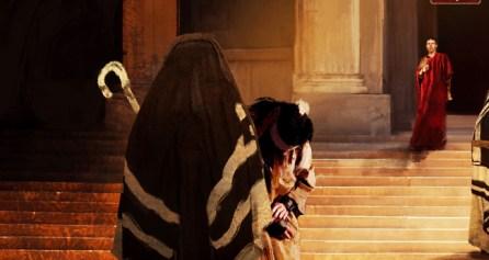 """Isus predat lui Ponțiu Pilat, in seria de picturi """"Killing Jesus"""" realizată de Stephen Moyer (2015)"""