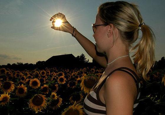 tenir le soleil