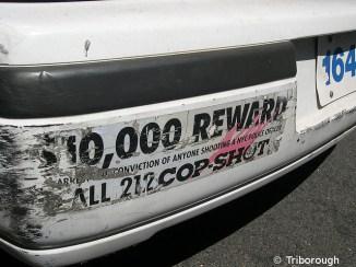Récompense si on dénonce quelqu'un qui a tué un policier