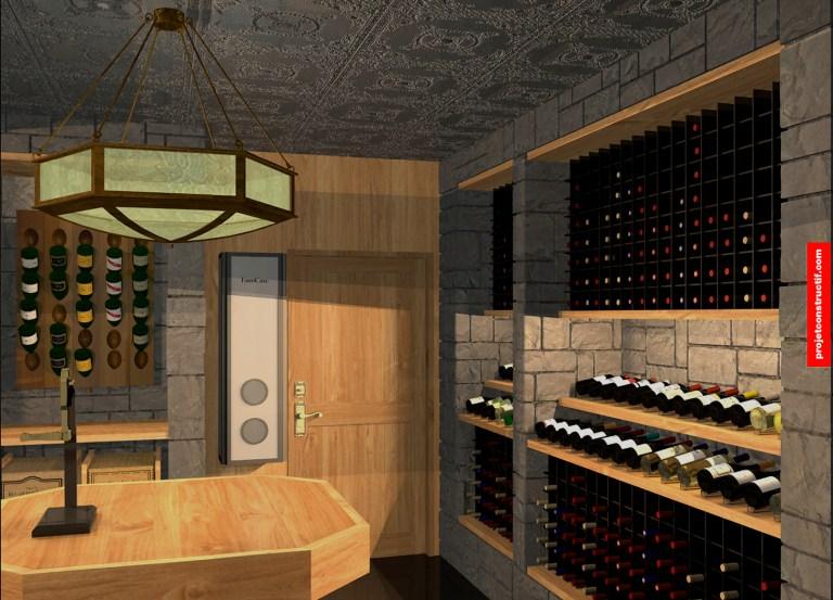 Cave à vins Aménagement_intérieur_chambre_à_vins_Interior_design_wine_room